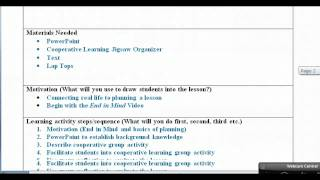 Lesson Plan With Examples Video