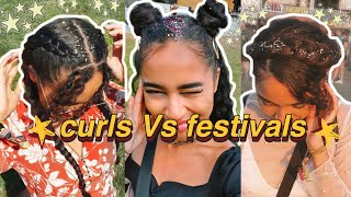 CURLY GIRLS Vs Reading & Leeds MUSIC Festival | Festival Hairstyle Inspiration
