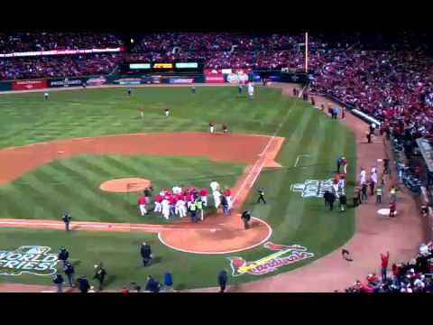 David Freese Game 6 walk off v Texas Rangers...World Series