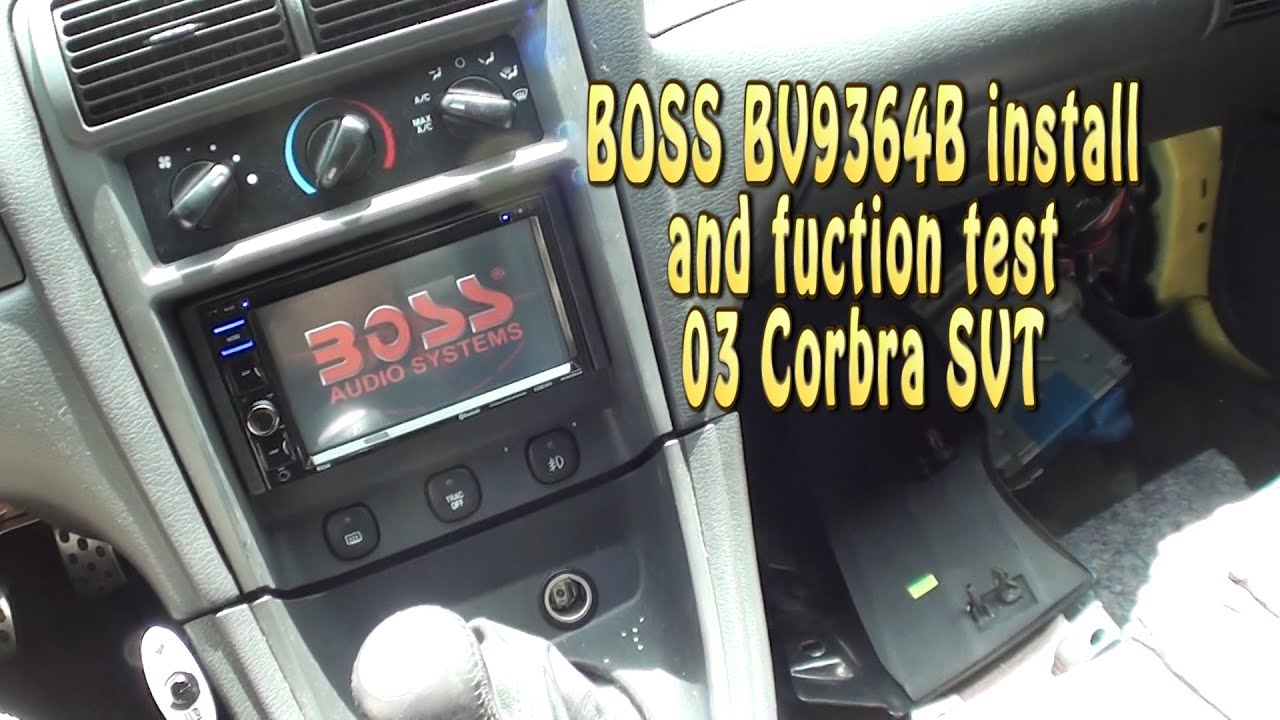 medium resolution of boss bv9364b install test 2003 mustang cobra svt