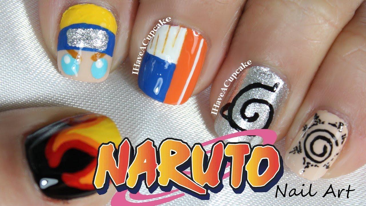 Naruto Nail Art - YouTube