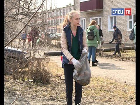 В Ельце продолжается санитарная очистка города