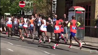 LONDON MARATHON 2018 | Elite Men's Race Side View