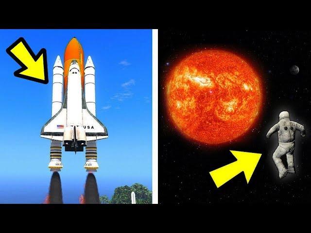 🔴 מה יקרה אם ננסה להגיע לשמש ב GTA V?! (טסים לחלל ב GTA V!)