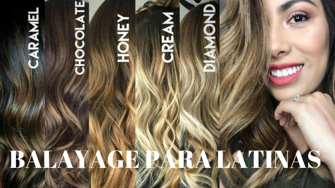 Color De Cabello Para Morenas Latinas Balayage Youtube