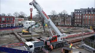 Garenmarkt parkeergarage, bezoek bouwput 24 januari 2018. www.leidseglibber.nl