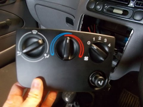 Ford Fiesta Heater Control Unit Removal  YouTube