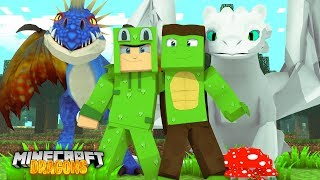 REUNITED WITH LITTLE LIZARD! - Minecraft Dragons