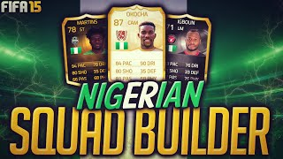 Fifa 15 Full Nigerian Squad Builder Jay Jay Okocha Ultimate Team