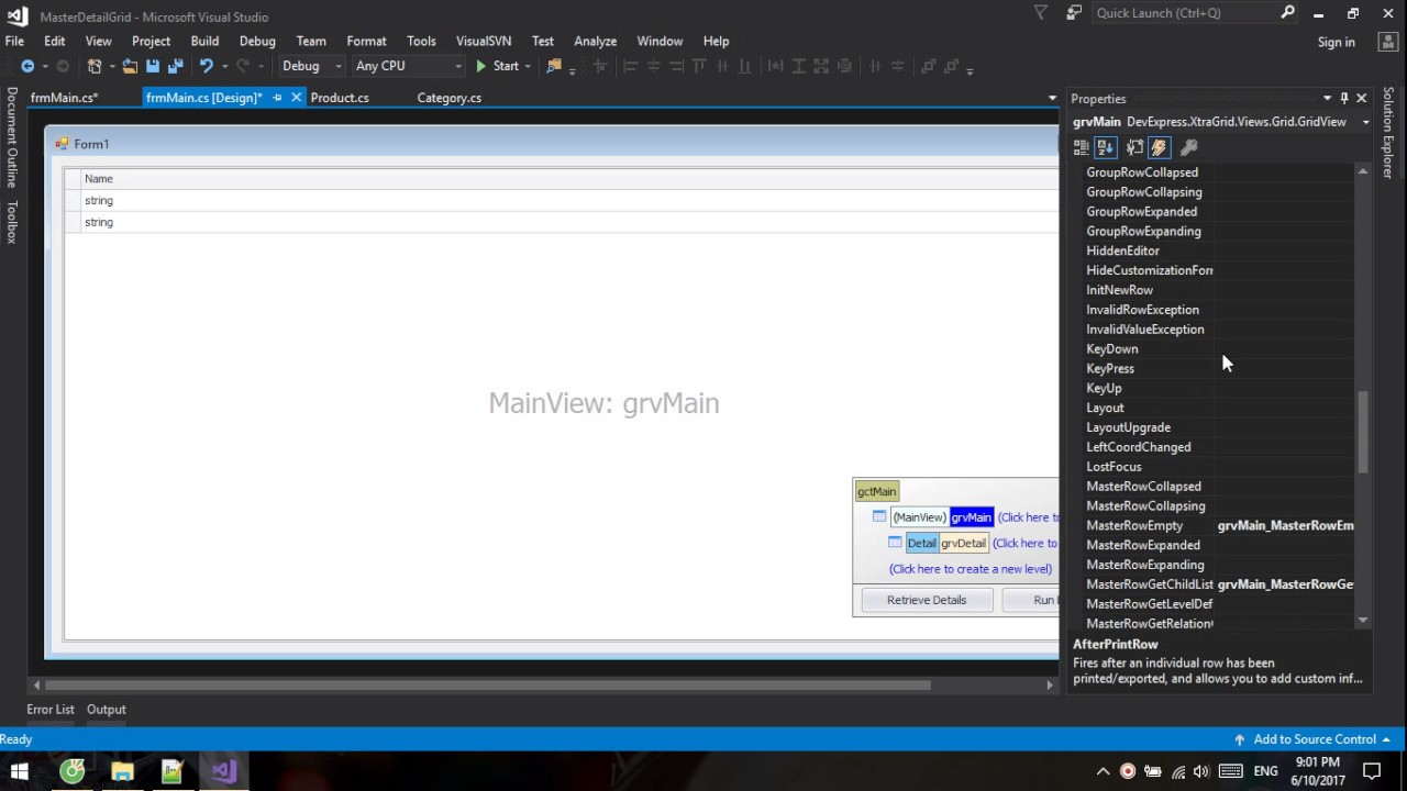 [Devexpress] How to make Master - Detail in GridView