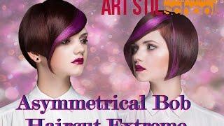 Asymmetrical Bob Haircut Extreme