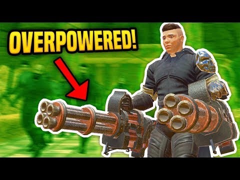 OVERPOWERED GATLING GUN IN VIRTUAL REALITY - Blades And Sorcery VR Mods