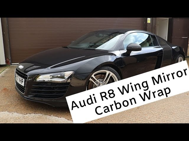 Audi R8 | Carbon Fibre Wing Mirror Wrap | CBS Automotive
