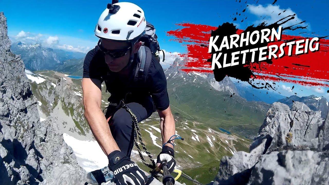 Klettersteig Rating : Karhorn klettersteig warth bregenzerwald youtube