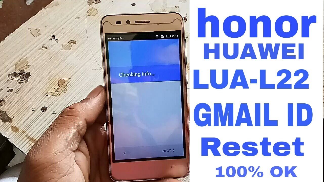 Honor Lua L22 Gmail Id Bypass