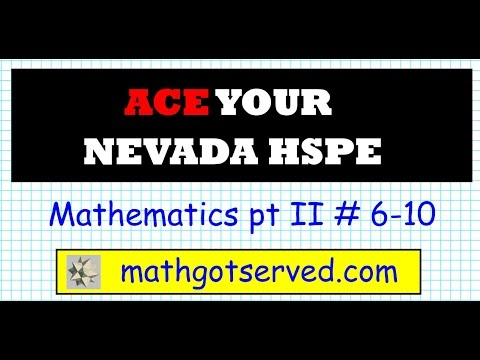 NHSPE Mathematics Pt II Nevada High School Proficiency Exam Clark