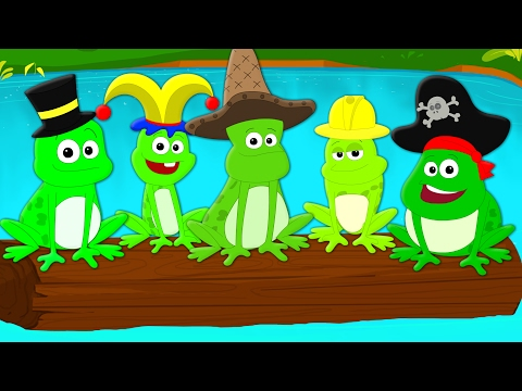 five little speckled frogs | nursery rhymes | songs for children and babies