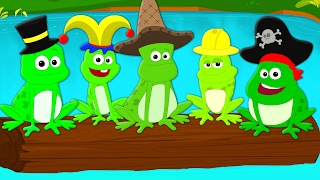 Five Little Speckled Frogs | Nursery Rhymes | Songs For Children And Babies | kids Tv Nursery Rhyme