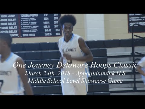 2018 One Journey Delaware Hoops Classic Middle School Highlights