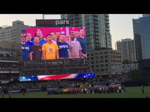 National Anthem Pride at Petco Park Padres