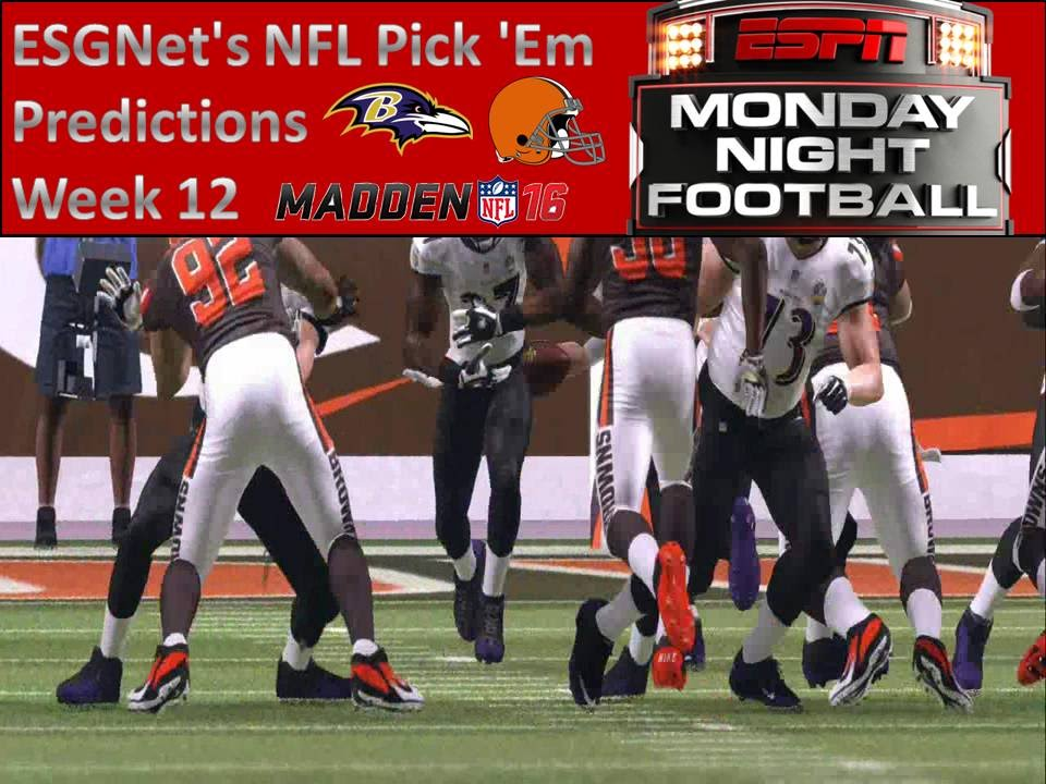 nfl pick monday night nfl on thanksgiving
