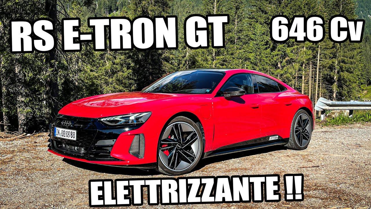 AUDI RS E-TRON GT !!! 646 CAVALLI ELETTRICI !!!