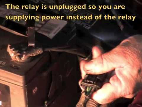 Chrysler Cooling Fan Relay Youtube
