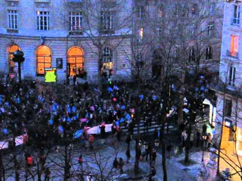 La Manif pour Tous défile boulevard Saint-Michel, le 12 avril 2013