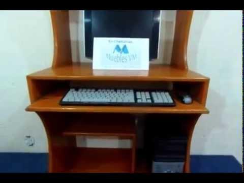 Muebles para computadora espacio de impresora cpu y for Muebles de escritorio modernos para casa
