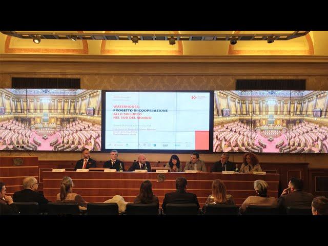 Presentazione del progetto WaterHouse al Senato della Repubblica con Fabrice Hyber