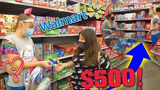 SURPRISING People with $500 GIFT CARDS!! at Walmart!!