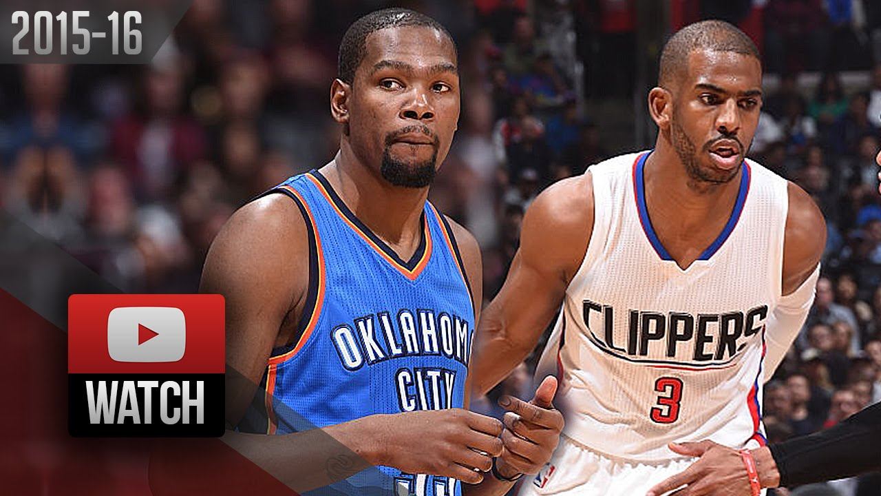 4b981f60444d Chris Paul vs Kevin Durant EPIC Duel Highlights (2016.03.02) Clippers vs  Thunder - MUST Watch!