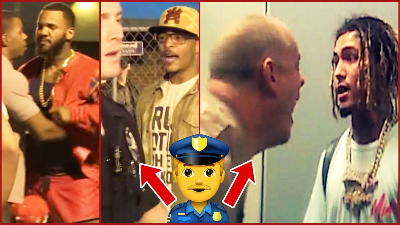 RAPPERS vs COPS & SECURITY (The Game, MGK, Lil Pump, T.I.)