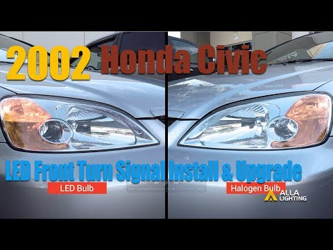 1996-2002 Honda Civic Front Turn Signal Light Bulbs Replace, Install and Upgrade