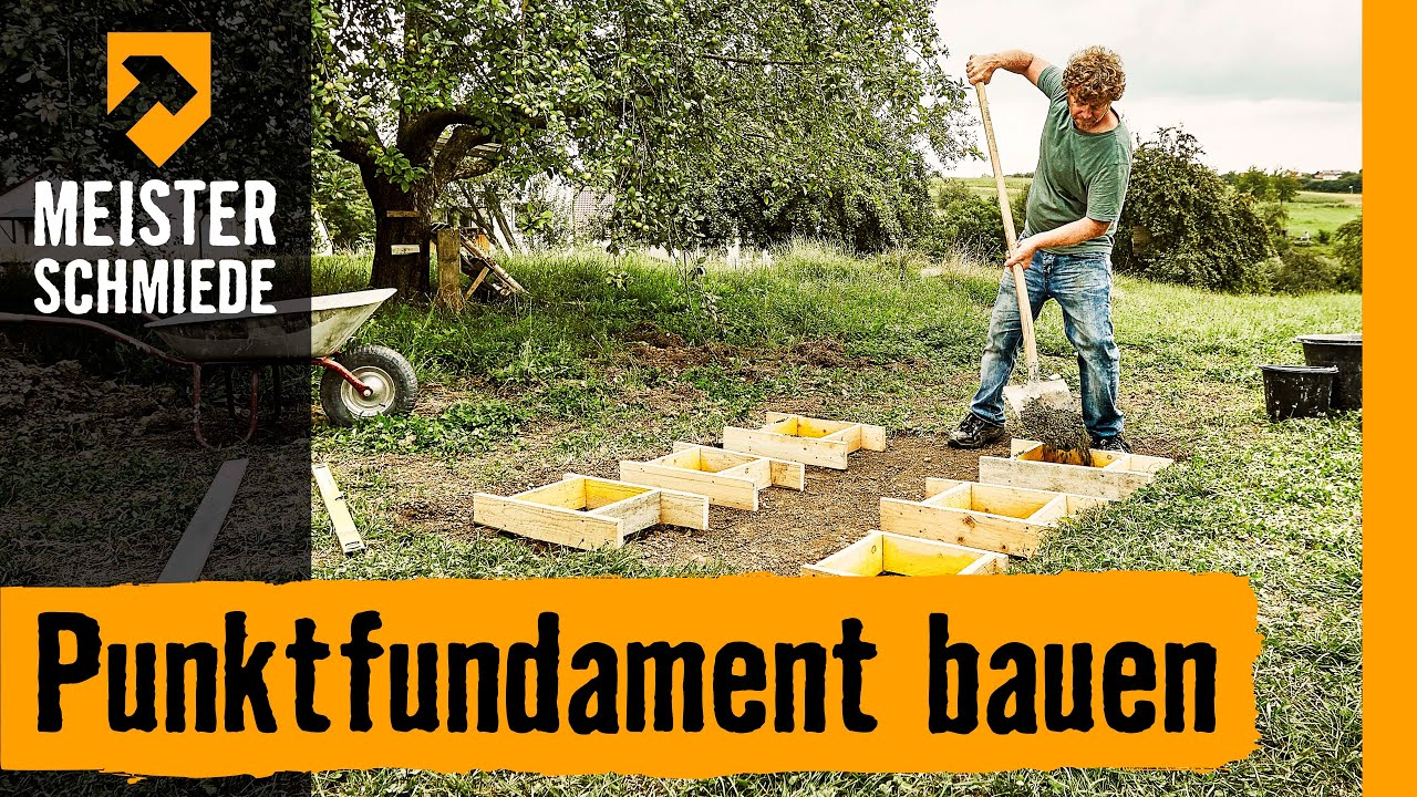 Fundament Am Hang Punktfundament Bauen | Hornbach Meisterschmiede - Youtube