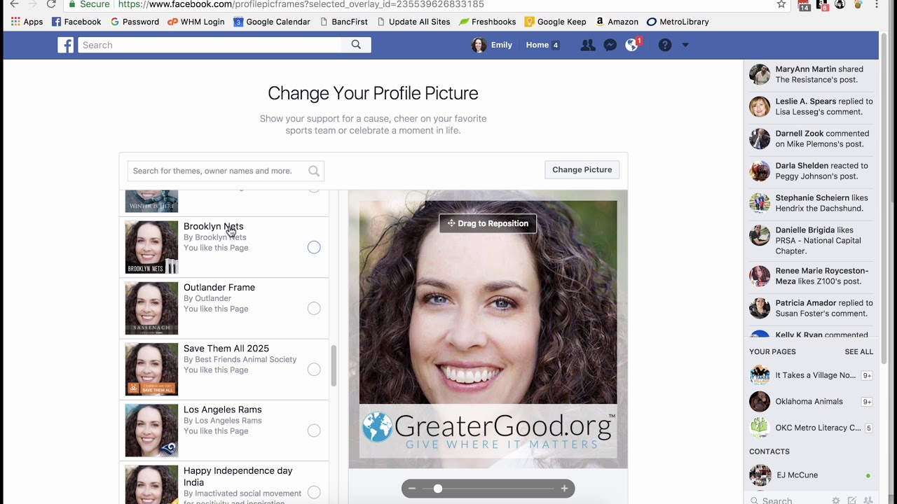 how to delete facebook profile picture frame