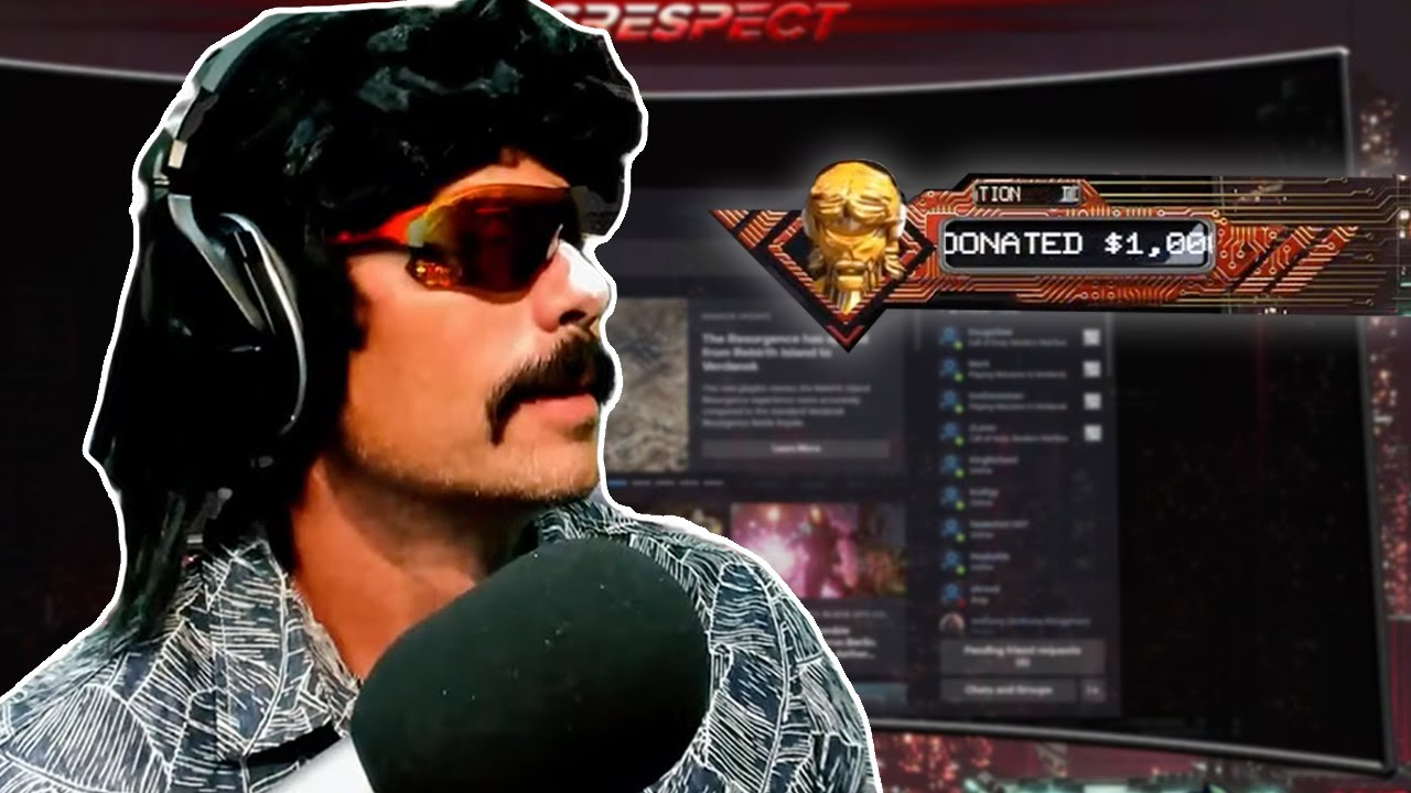 DrDisrespect Gets $1000 Donation After Coming Back from Vacation