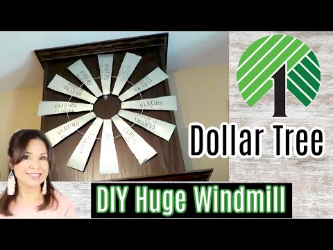 DIY Dollar Tree Farmhouse Windmill Wall Decor