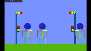 [algodoo]交差点を作ってみた thumbnail
