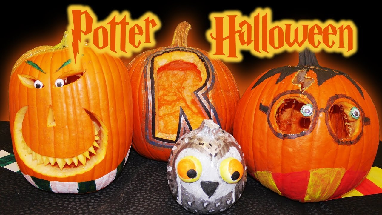 Harry Potter Pumpkin Carving Youtube