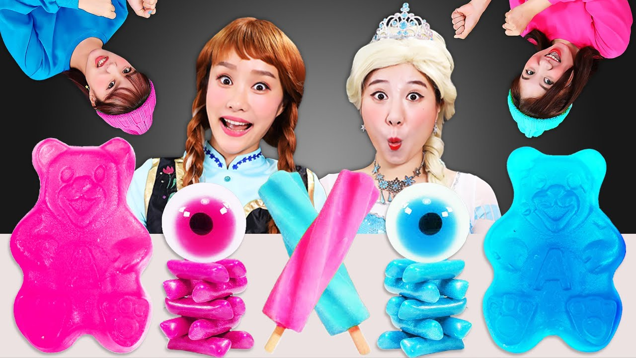 Download 🧡DK vs JINI Color Challenge Mukbang💙 DK와 지니의 색깔 먹방 챌린지 모음JiniYum 지니얌