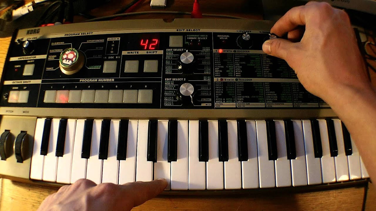 The Microkorg Cookbook — : Microkorg Patch Settings : 80's retro