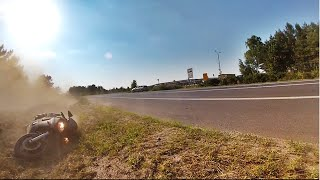Yamaha R6 Crash - Target Fixation - Żłobnica 2015