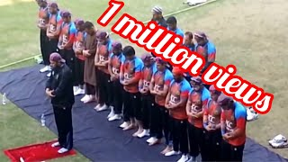 Afghanistan cricket Team praying , lead By head coach Inzimam Ul Huq @ Surat , Gujarat - India