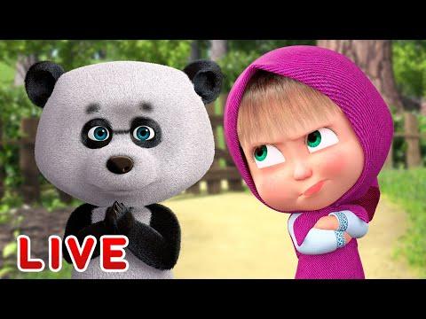 🔴-live!-mascha-und-der-bär-🥁wunderbare-zeit-🥁-zeichentrickfilme-für-kind🎬