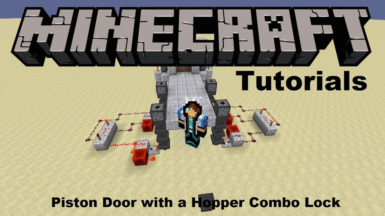 Minecraft Tutorial How To Make A Piston Door With A