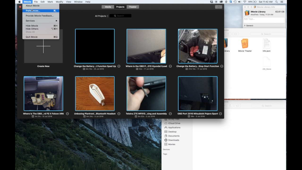 how to delete imovie library on mac
