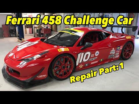 How To Repair Carbon Fiber On A Ferrari 458 Challenge Car (Part:1)   #Ferrari #Easteregg #Supercar