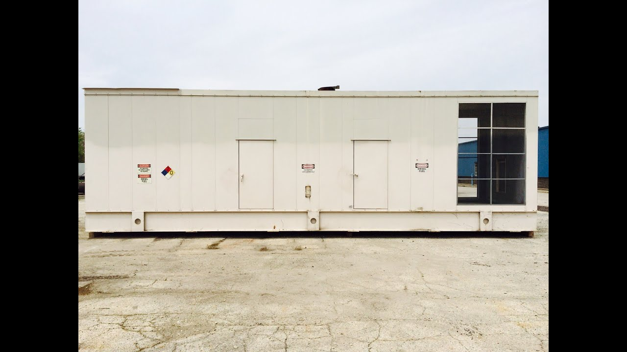 Used Caterpillar 1500 kW standby sel generator set CAT 3512B