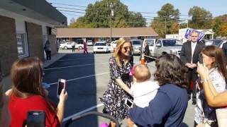 Ivanka Trump arriving at GOP headquarters in indian Trail New York